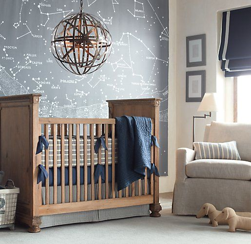 Starry Night Grand Canvas Wall Tapestry by Restoration Hardware Baby & Child.