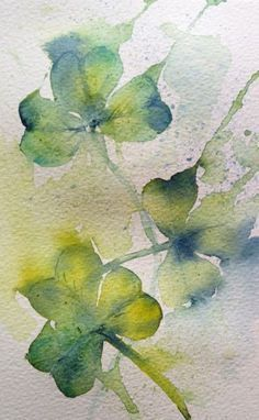 how to paint a shamrock with watercolor - Google Search