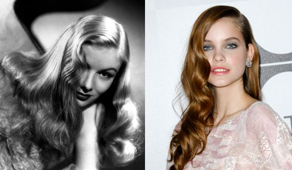 Over the shoulder  Veronica Lake was pretty much known for this side    Veronica Lake Hair Red Carpet