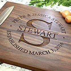 Round Stamp Wedding Design Personalized Cutting Board - Engraved Cutting Board, Custom Cutting Board, Wedding Gift, Housewarming Gift, Anniversary Gift, Engagement W-007 GB