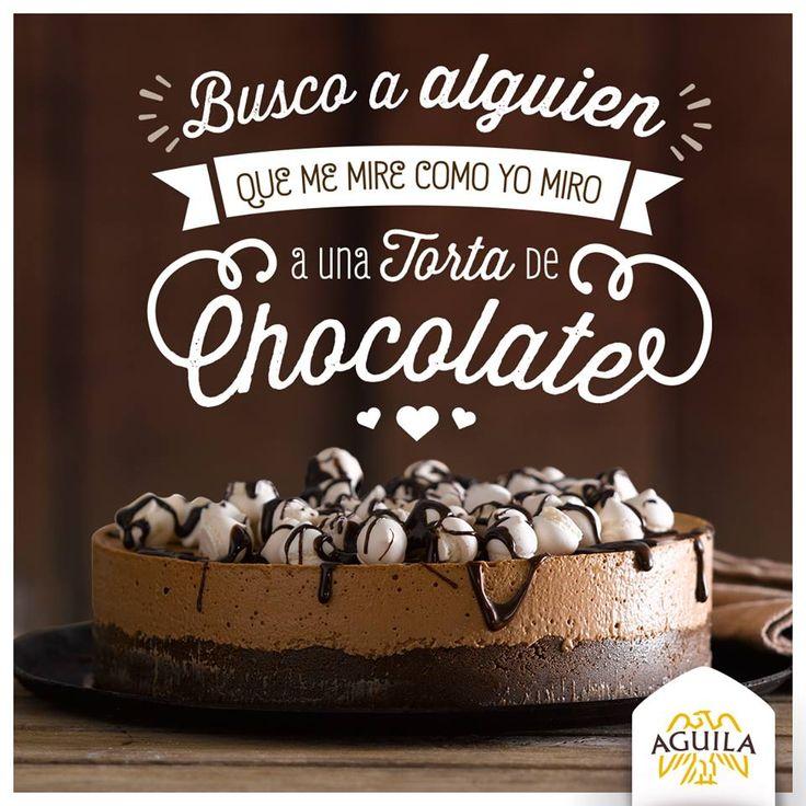 Busco a alguien que me mire como yo miro a una torta de  #chocolate