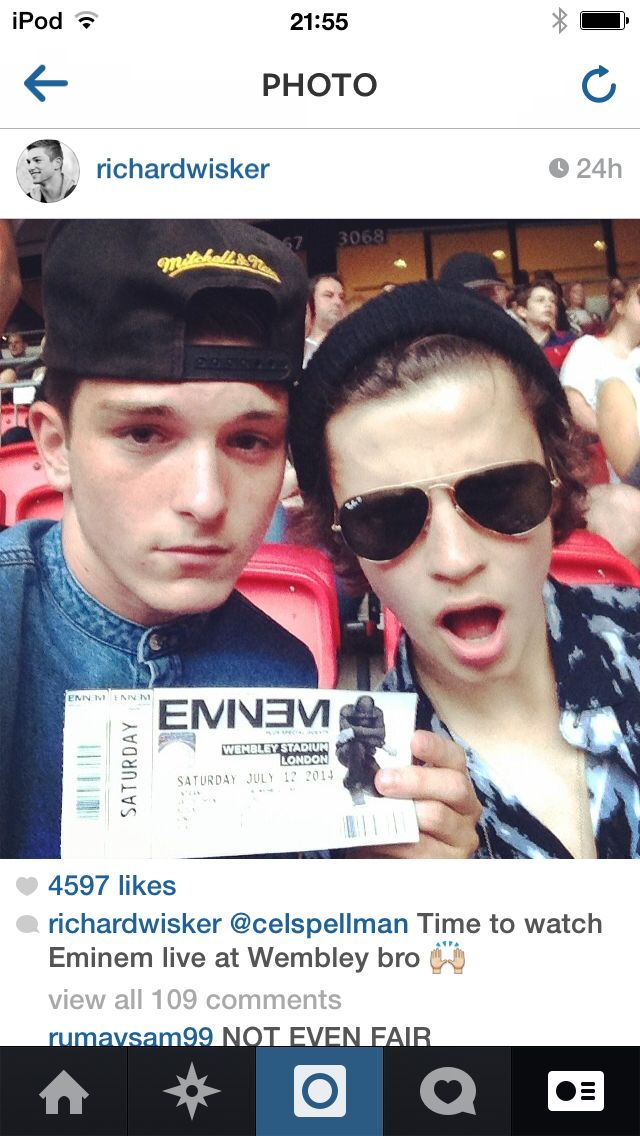 Richard and Ceallach at Eminem Concert on 12.7.14