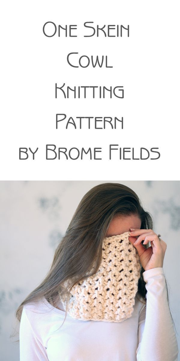One Skein Cowl Knitting Pattern Integrity By Brome Fields