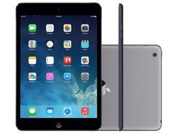 """iPad Mini 2 Apple 32GB Cinza Espacial 4G Tela 7,9"""" - Retina Câmera 5MP + Frontal Processador M7"""
