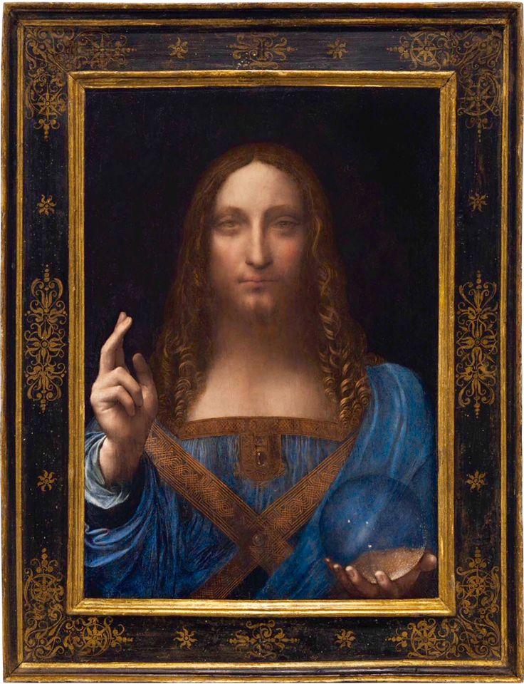 Salvator Mundi - Leonardo da Vinci, c. 1500, Private Collection ~ sold at Christie's on 11/16/17 for $450 million. #daVinci