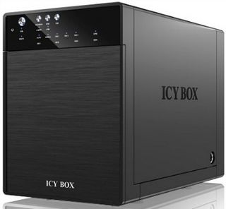 RAIDSONIC Icy Box External 4x3 5 HDD case SATA to USB 3 0 eSATA JBOD Black IB 3640SU3 *** www.pcland.hu Online Áruház ***