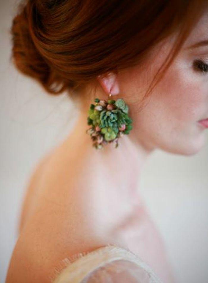 Sukkulenten Schmuckdesign Das Juwelen Beim Tragen Wachsen Lasst Succulent Jewelry Floral Jewellery Bridal Jewelry