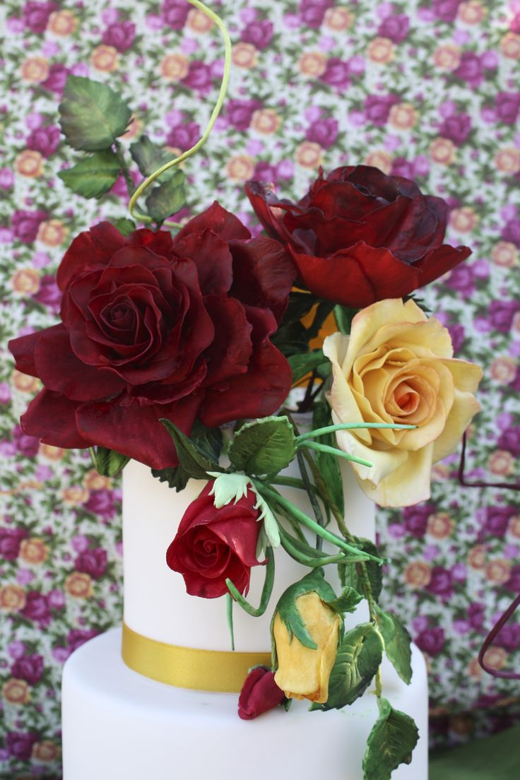 red and yellow rose inspiration from royal albert porcellan