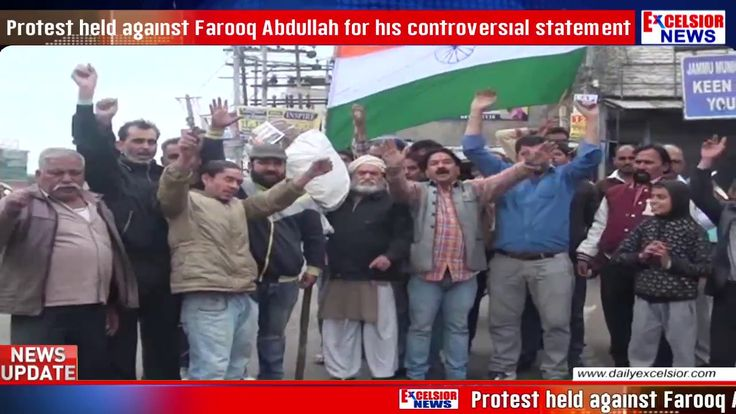 Protest held against Farooq Abdullah for his controversial statement