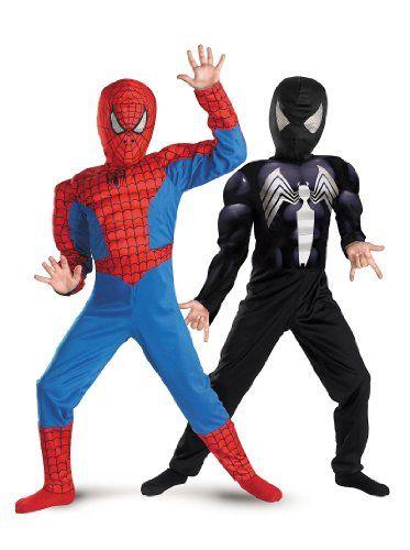 Black Spiderman Halloween Costumes - reversible! #halloween #spiderman #costumes