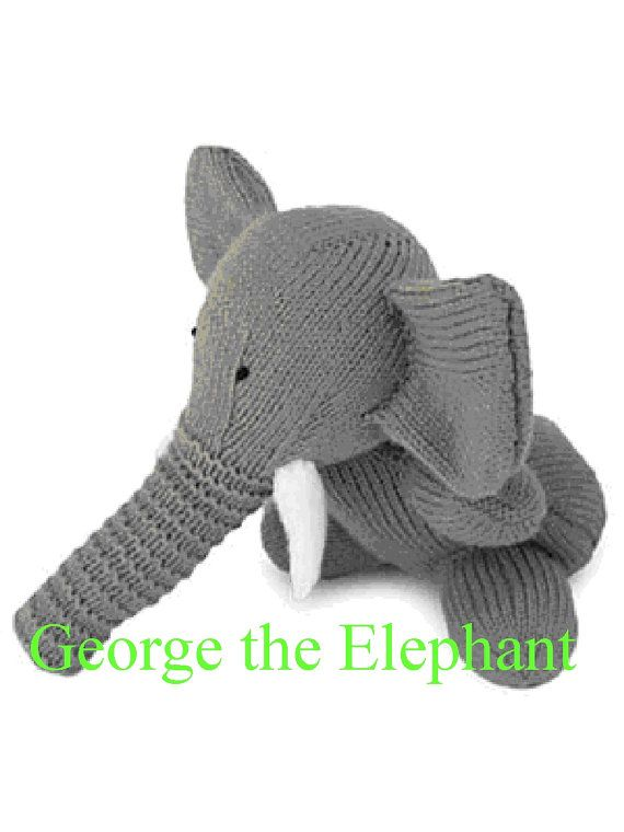 Super Toy George the ELEPHANT toy 6643 KNITTING by ButtonItTight