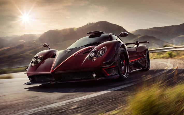 Download wallpapers 4k, Pagani Zonda Fantasma Evo, 2017 cars, supercars, Pagani Zonda