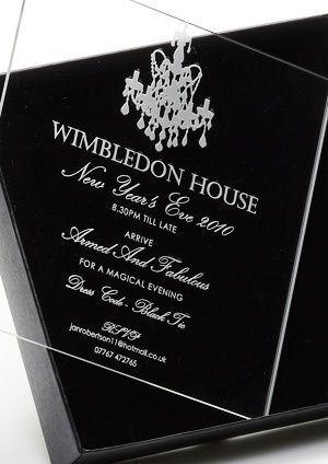 Etched Acrylic Invite + Black Box | Unique Wedding Invitations