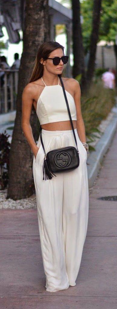 street style white set