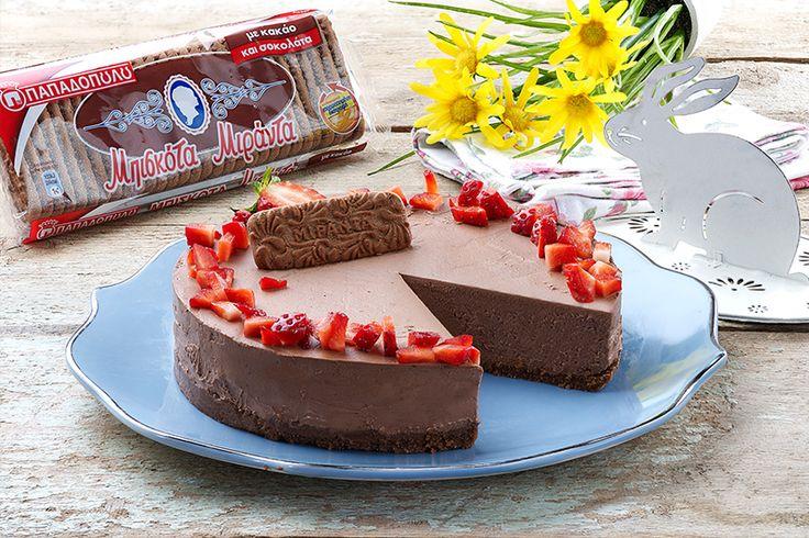 "Cheesecake σοκολάτα με ""Μιράντα"" ΠΑΠΑΔΟΠΟΥΛΟΥ με κακάο"
