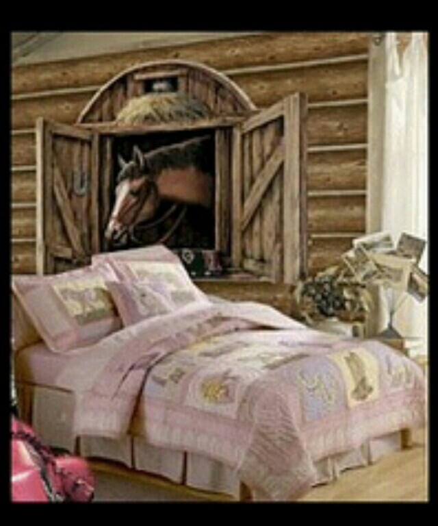 Horse Themed Bedroom Decorating Ideas Part - 28: Horse Theme Bedroom Decorating Ideas - Girls Horse Themed Bedrooms - - Horse  Wall Murals - Pony Theme Bedroom Decorating Ideas - Cowgirl Theme Bedroom  Horse ...