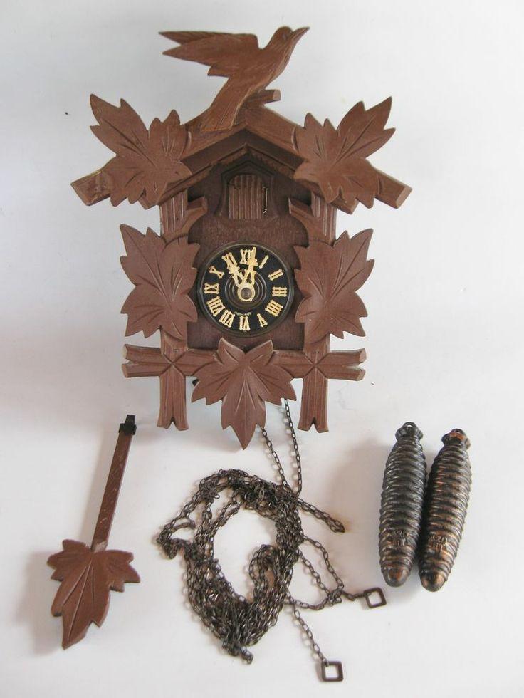 Vintage German Cuckoo Clock For Part Or Repair