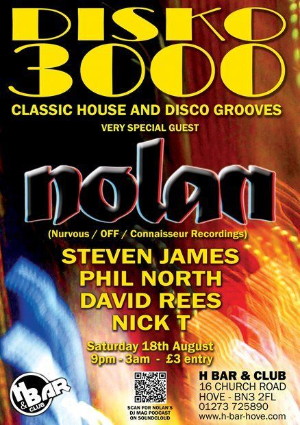 this Saturday...  Disko 3000 at H Bar (Brighton & Hove)