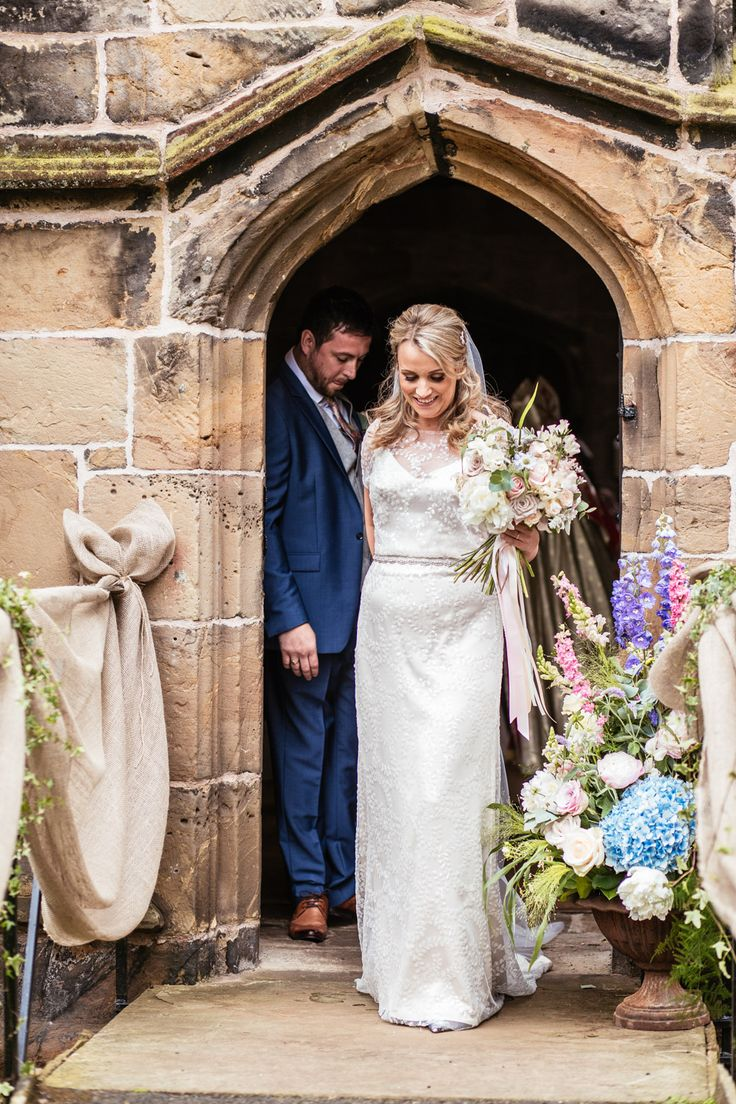 Bride in Halfpenny London - Halfpenny London Wedding Dress | Bride 4 Months Pregnant | Rustic Yurt Wedding | Pink Rose Floral Arrangements | Images by Cassandra Lane