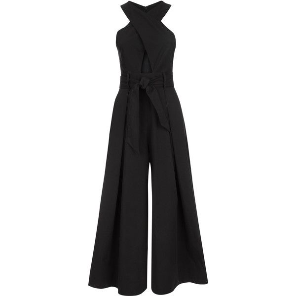 Temperley London Blueberry Tailoring Jumpsuit (2.670 BRL) ❤ liked on Polyvore featuring jumpsuits, jump suit, temperley london, temperley london jumpsuit and tailored jumpsuit