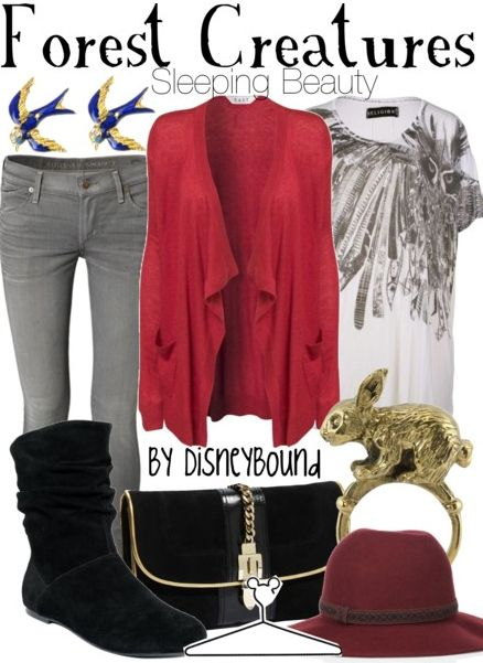 Disney Bound: Hats, Disney Bound Fashion, Disney Clothing, Disney Outfit, Disney Inspiration, Disneybound, Sleep Beauty, Owl Shirts, Forests Creatures