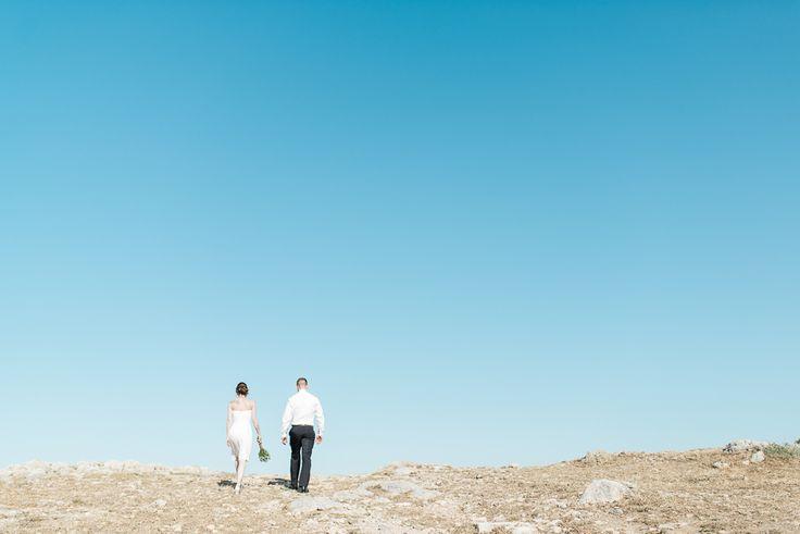 couple with a blue sky portrait