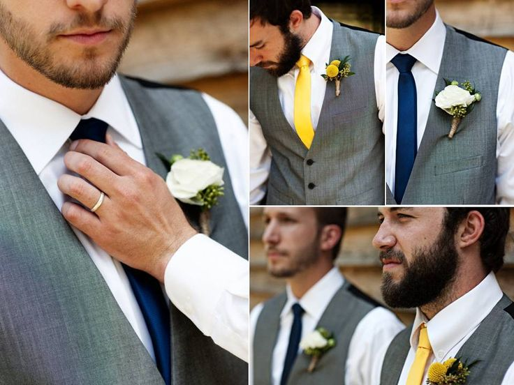 Dapper-grooms-attire-grey-formalwear-suits-yellow-navy-blue-wedding-color-palette.full