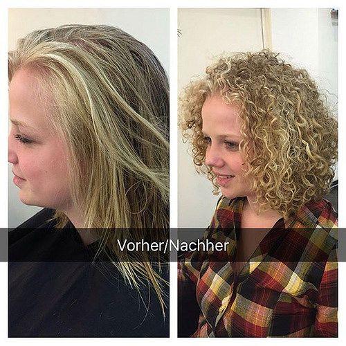 Dauerwelle Schulterlange Haare Vorher Nachher Haarschnitte Beliebt