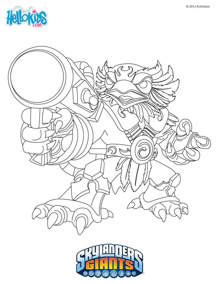 warm up your imagination and color nicely this jetvac coloring page from skylanders giants coloring pages