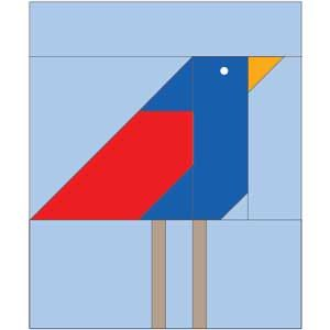 Bird Free Quilt Block: Foundation Piece Bird Quilt Block Pattern
