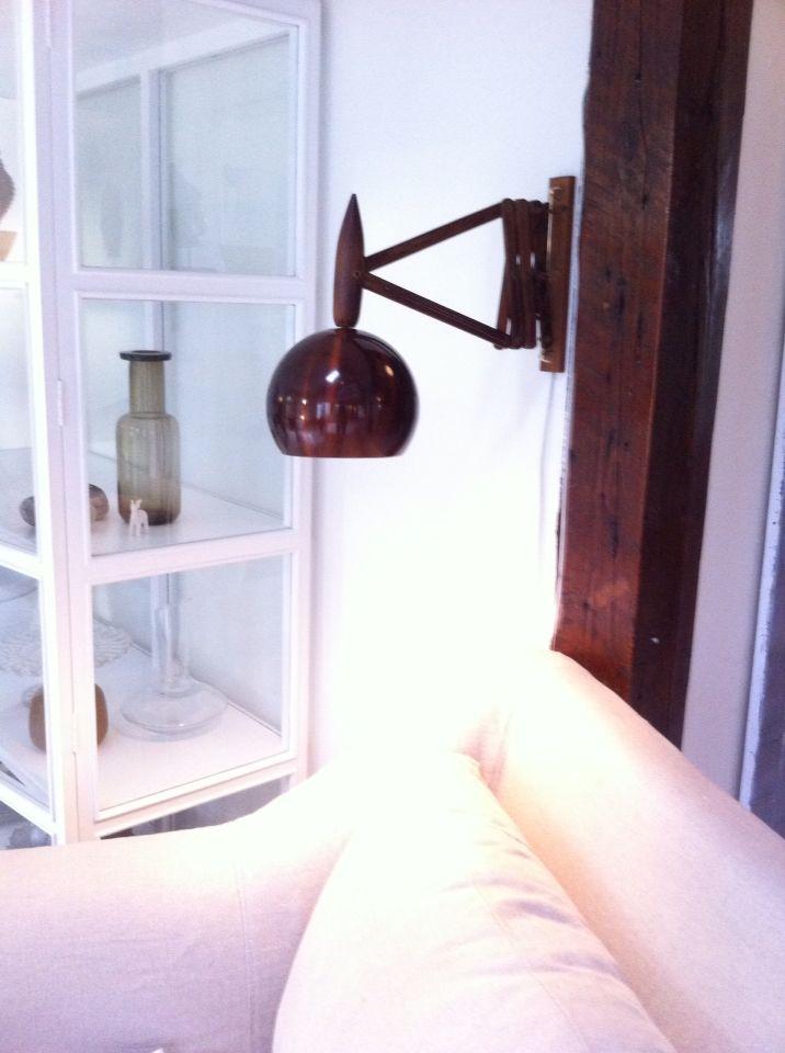 Selvlaget lampe. Kombinasjon av 2 retro lamper.