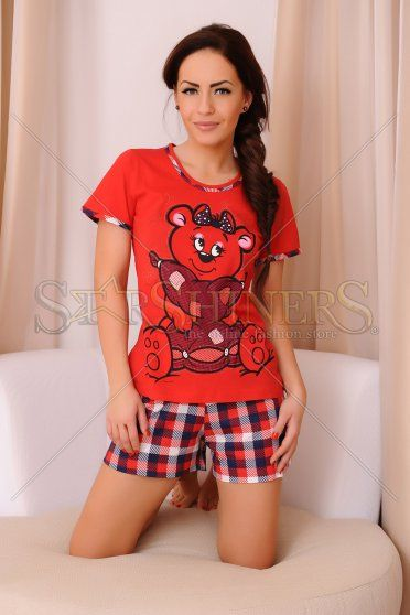 Pijama Innocent Bear Red