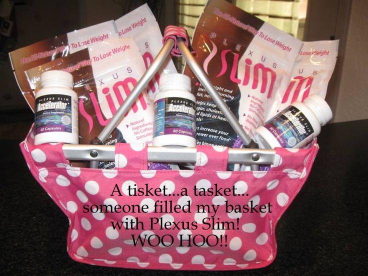 Basket full of Plexus cute door prize Auction baskets