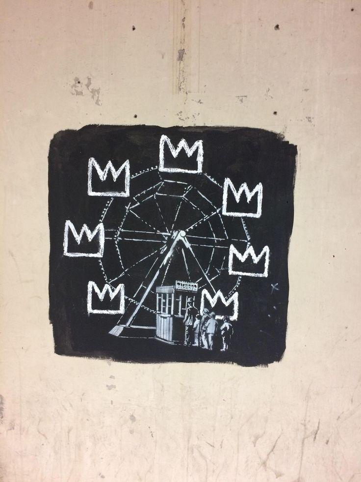 Homage to basquiat 2 banksy stencil 2017 http://ift.tt/2x4VSmM