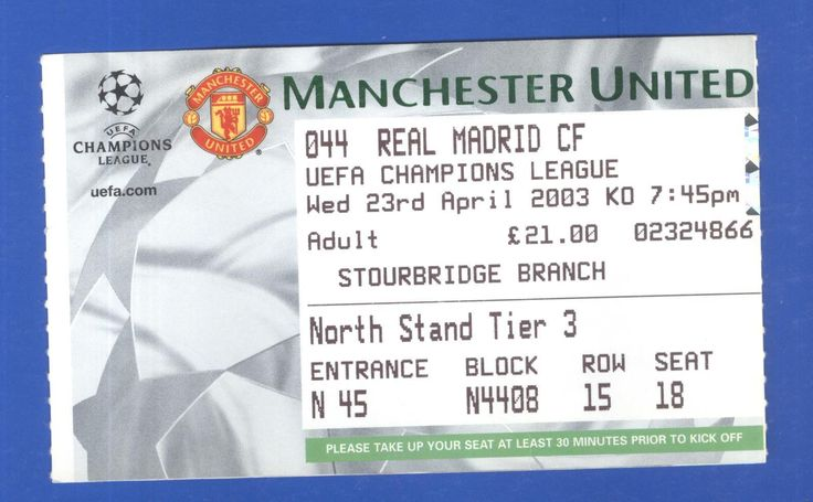Manchester united v real #madrid cf #champions league 2003 #ticket,  View more on the LINK: http://www.zeppy.io/product/gb/2/371767480527/