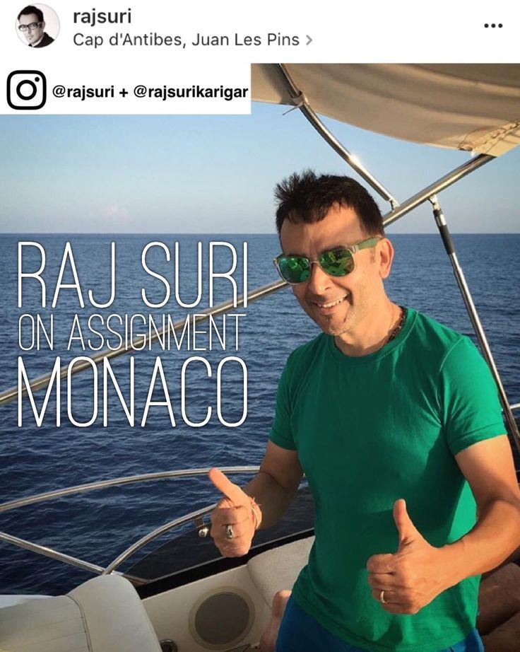 Raj Siri on assignment in Monaco directing a documentary #FindingtimeinMonaco