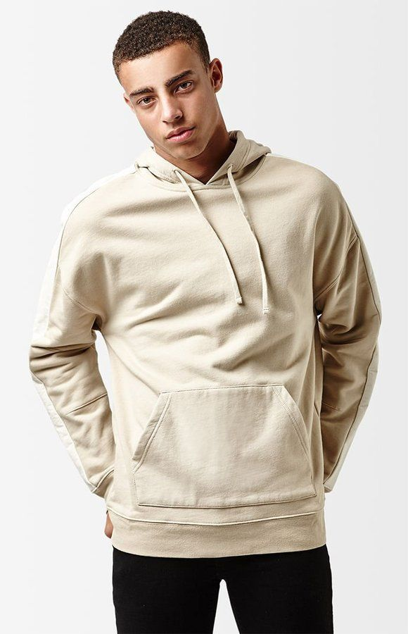 PacSun Faux Leather Stripe Oversized Pullover Hoodie