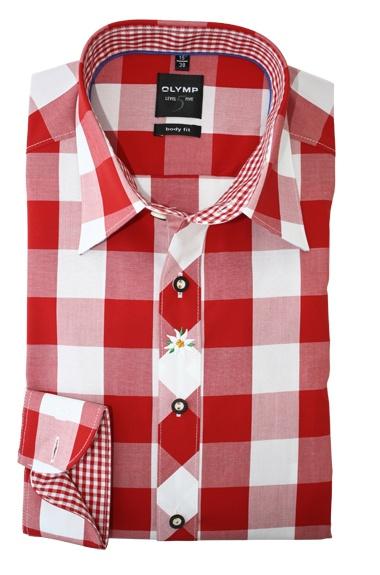 Speciaal voor de oktoberfesten in Duitsland brengt Olymp een aparte serie uit. Deze serie heeft Hemdenonline speciaal in huis gehaald voor de tirollerfeestjes en of oktoberfesten. Hier nu een prachtig Level 5 shirt in tiroler stijl. Dit is een extra getailleerd hemd. Het hemd is speciaal afgewerkt met leuke Tiroler tierlantijntjes. http://www.hemdenonline.nl/item-overhemden-olymp-olymp-6042-64-35-3048p39_53.html Olymp 6042-64-35