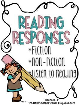This packet of reading responses will help your students comprehend when reading fiction, non-fiction, or even when they listen to a book/cd digitally. Perfectly aligns to the Common Core State Standards (CCSS).  Enjoy! -Rachelle