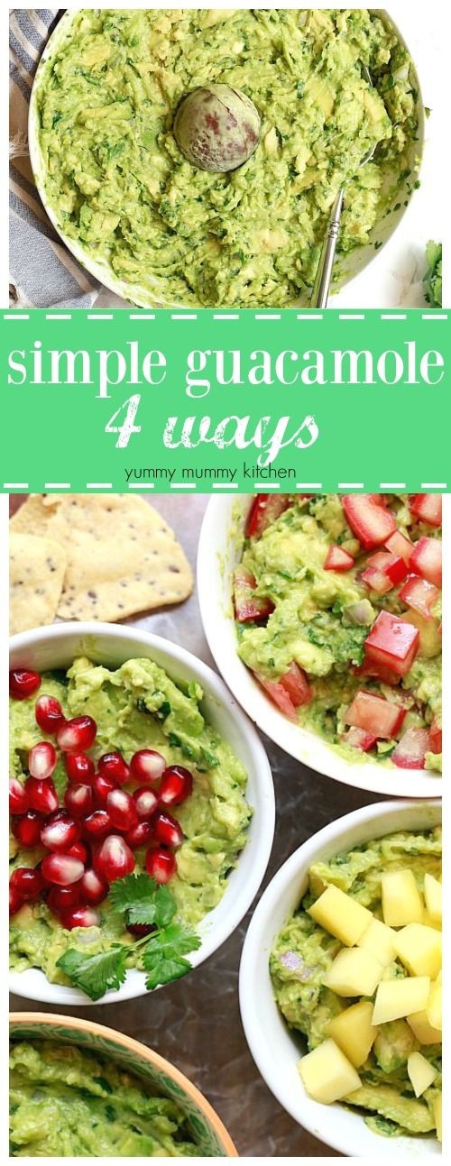 How to Make Guacamole. A simple recipe for homemade guacamole plus fun variations like mango, tomato, or pomegranate. This is the best healthy dip for Cinco de Mayo or any party.