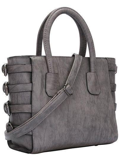 Grey Bag w/Buckle Detail – 4hearts