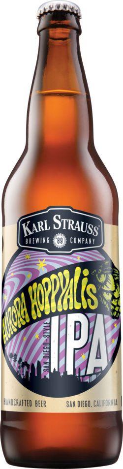 """KARL STRAUSS BREWIING """"AURORA HOPPYALIS IPA"""" ☆☆☆★★                                                                                                                                                                                 More  #craftbeer #beer"""