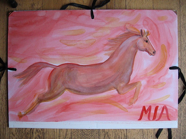 Waldorf ~ 4th grade ~ Human & Animal ~ Horse ~ watercolor painting ~ http://www.waldorf-ideen-pool.de/index.php?aid=1103