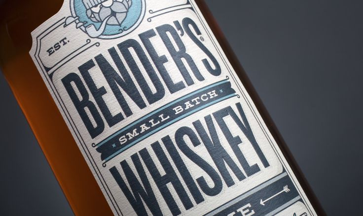 Bender's Rye Whiskey — The Dieline