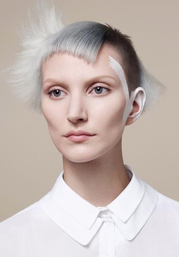 Sassoon  A pared down, minimalist approach. The collection features precisely cut, formfittingshapes of stripped back simplicity and muted colour that reflect a utilitarian,functional concept of graphical shape and the purity of a white work shirt.  Mark Hayes | International Creative Director