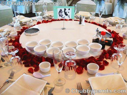 Simple Table Decor For Chinese Banquet Wedding Decorations