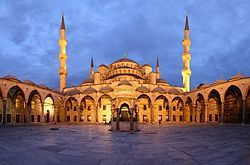 Google Image Result for http://upload.wikimedia.org/wikipedia/commons/thumb/7/77/Blue_Mosque_Courtyard_Dusk_Wikimedia_Commons.jpg/250px-Blue_Mosque_Courtyard_Dusk_Wikimedia_Commons.jpg