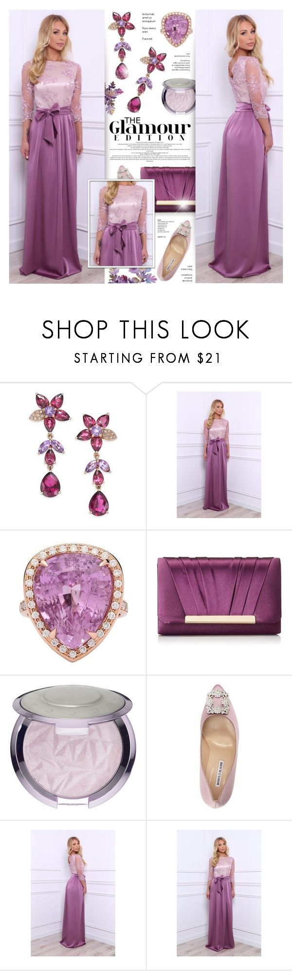 """DesirVale 17"" by anyasdesigns ❤ liked on Polyvore featuring Effy Jewelry, Jessica McClintock and Manolo Blahnik"
