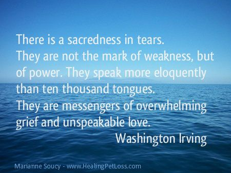 There is a sacredness in tears. http://healingpetloss.com/pet-loss-quotes/ #quote #petloss