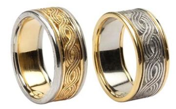Celtic Weave Wedding Ring with Trim